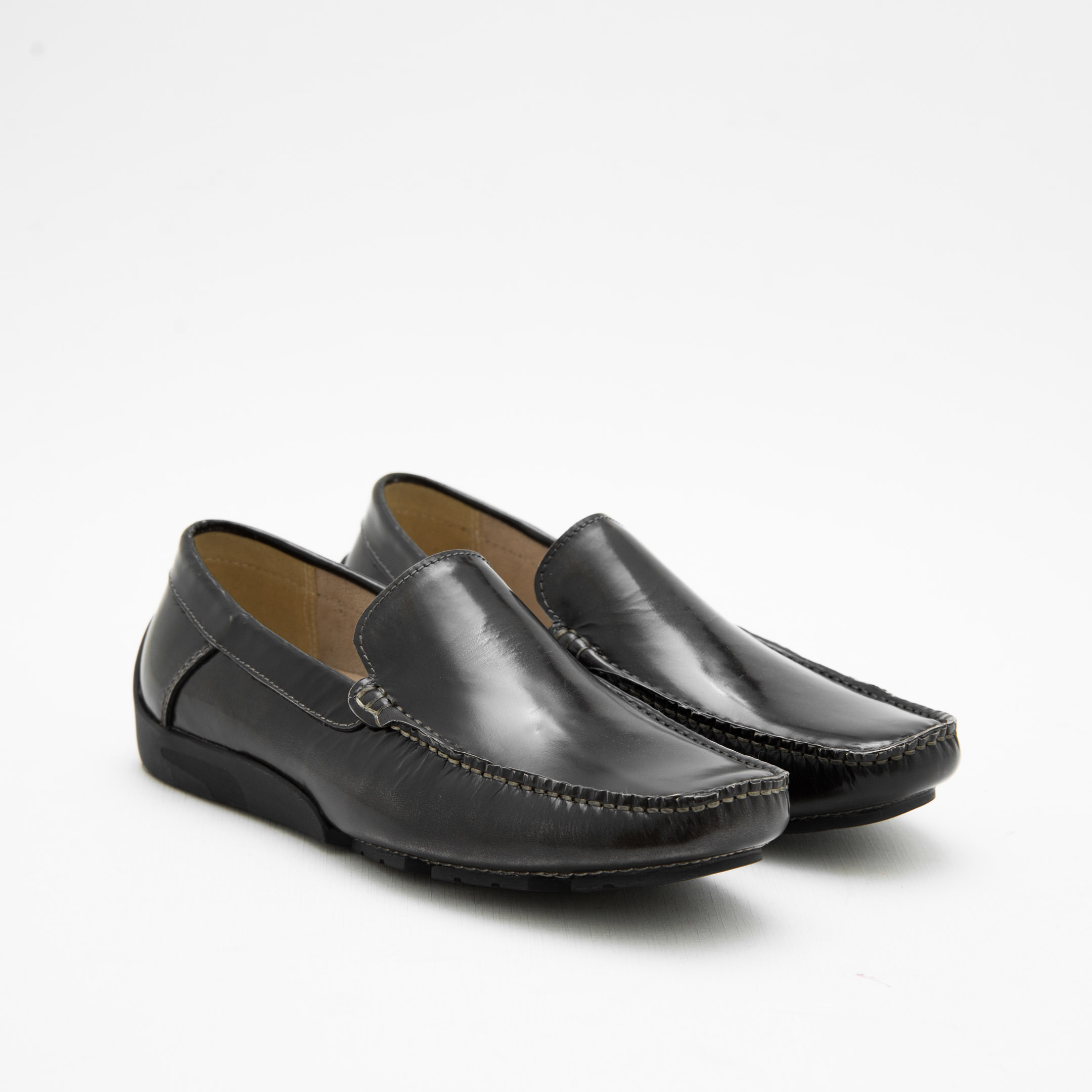 Giày Lười Nam Dark Grey Moccasins KCNY