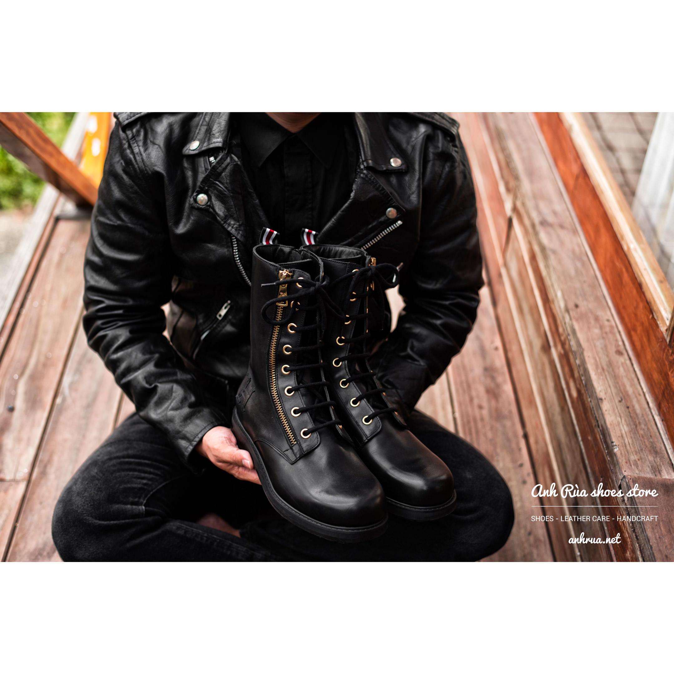 Giày Bốt Nam Black Zip Boots Tommy Hilfiger