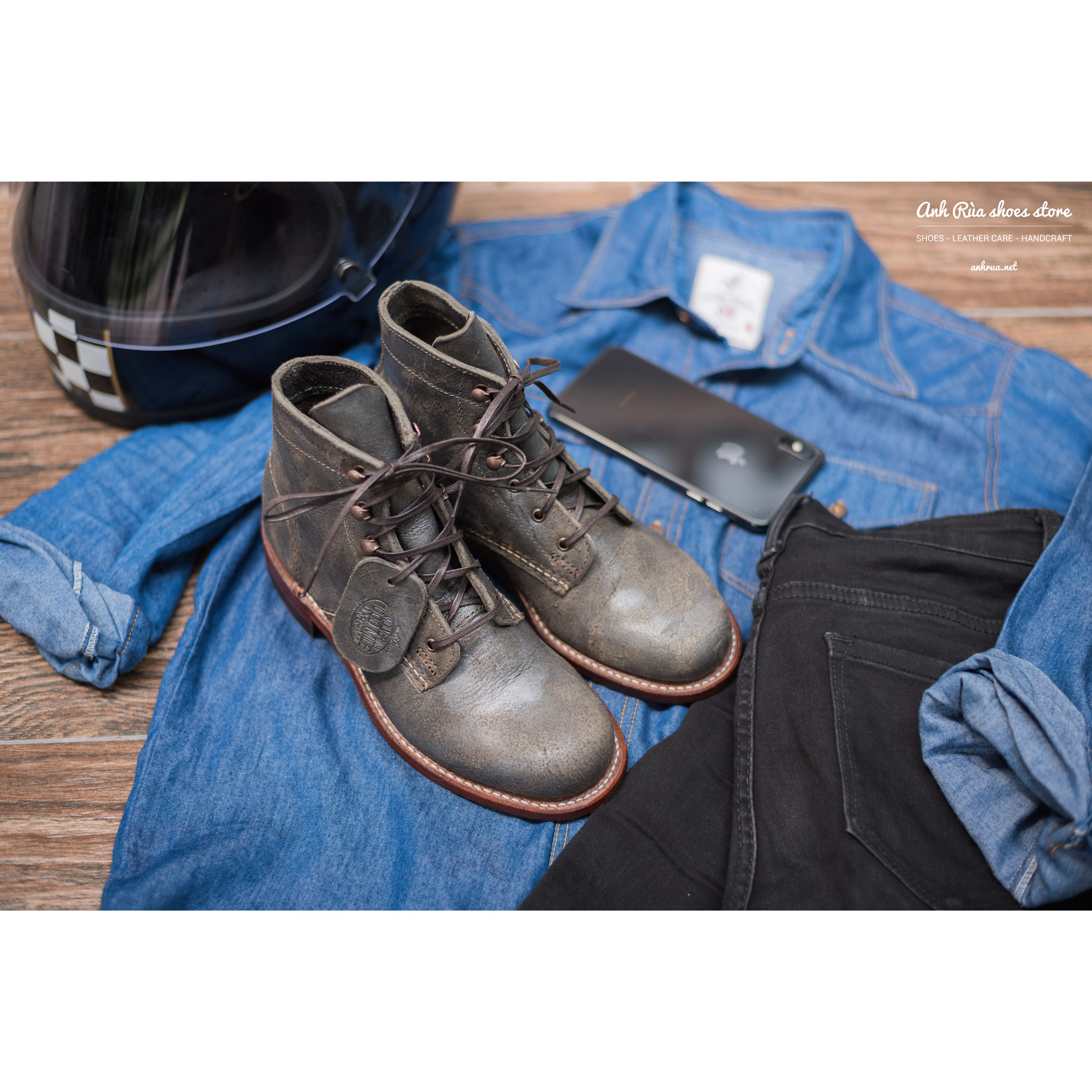 Giày Bốt Nữ Grey Stone 1000 Mile Boots Wolverine