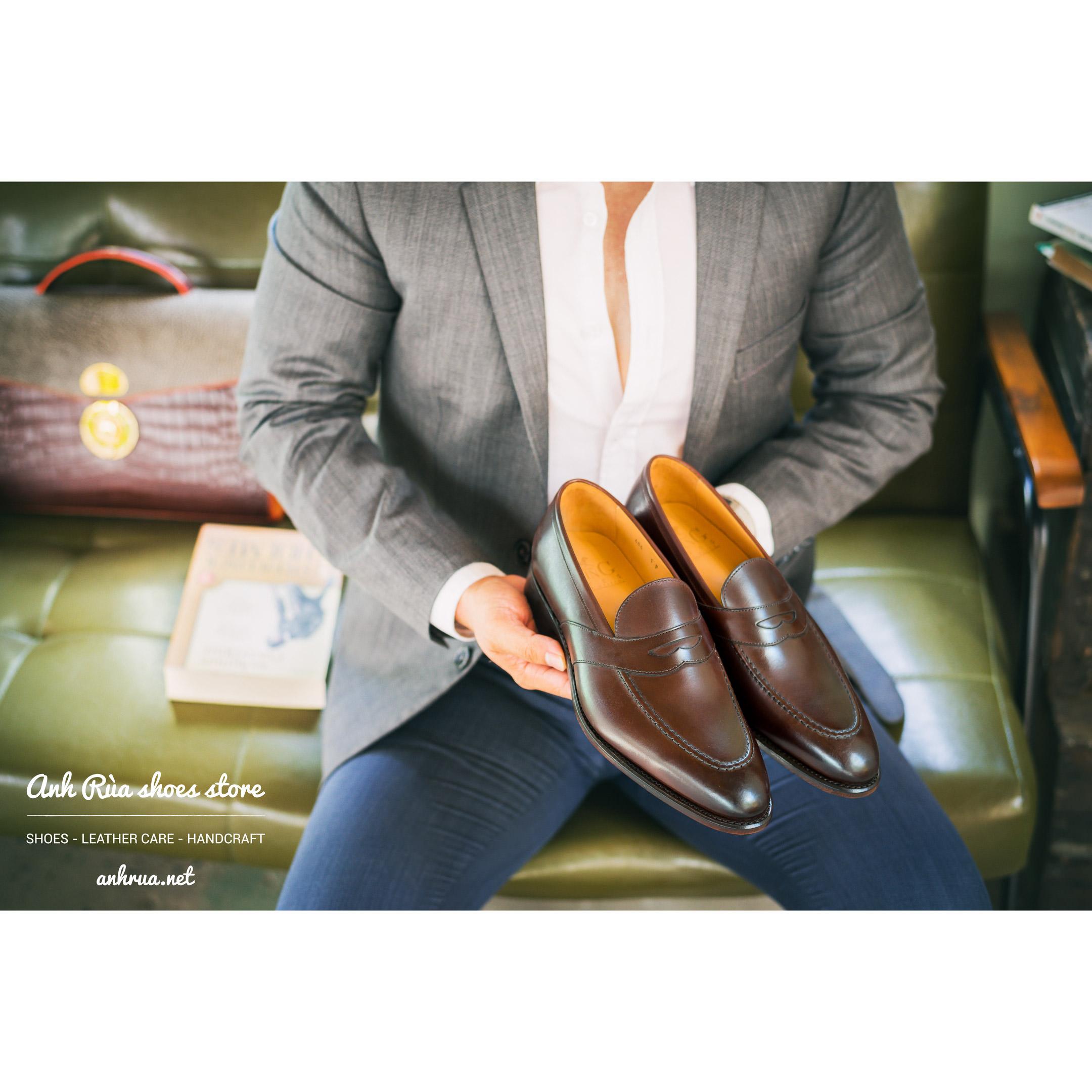 Giày Lười Nam Medium Brown Saddle Loafers LodinG