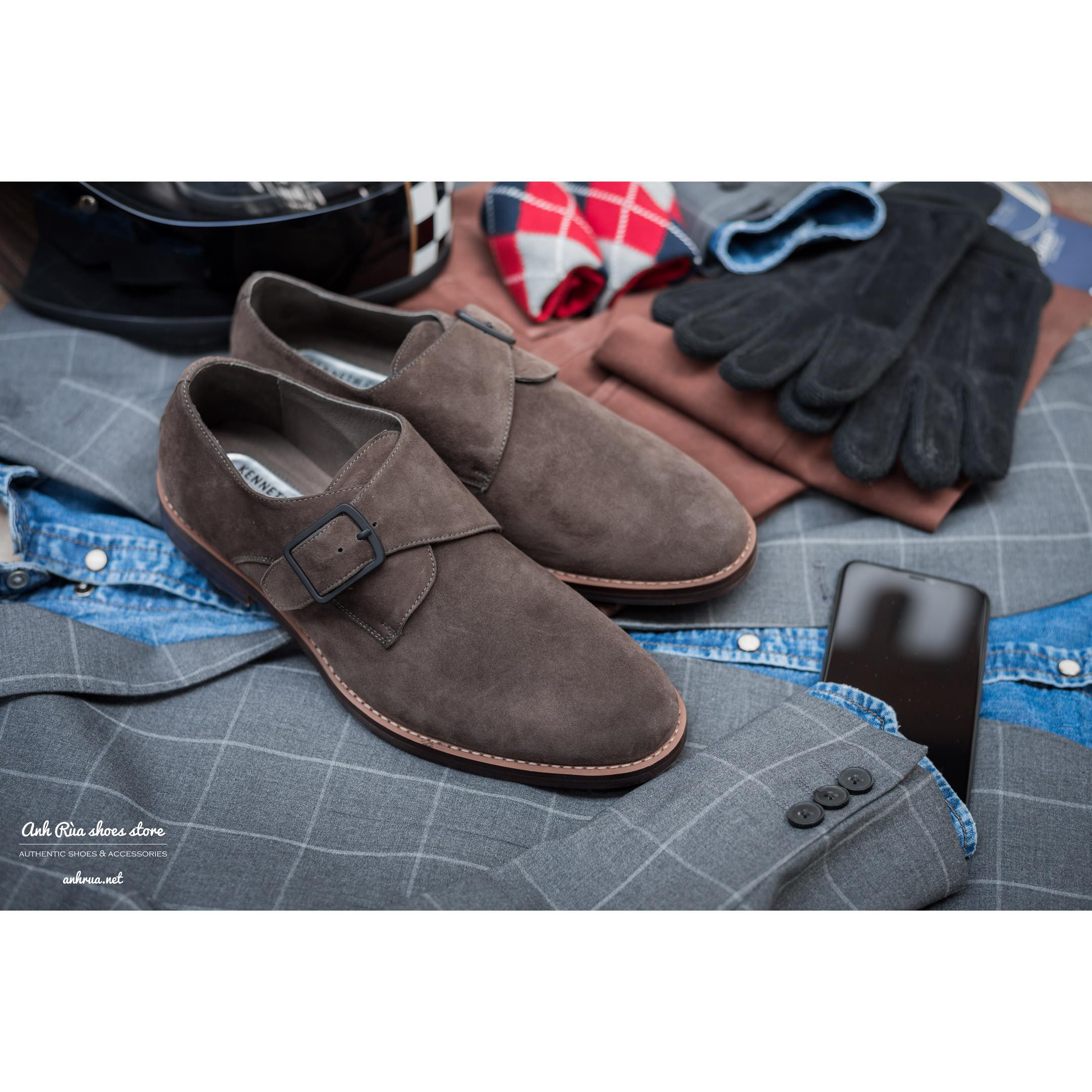 Giày Tây Nam Taupe Single Monkstrap KCNY