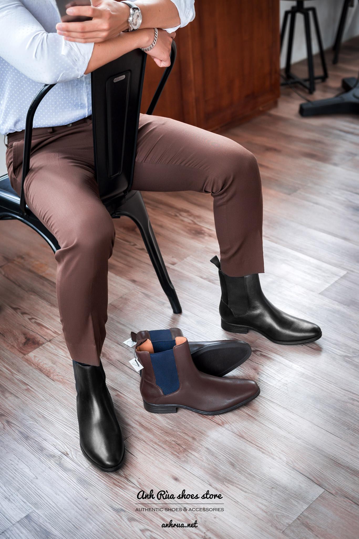 Giày boots nam Waterproof Chelsea