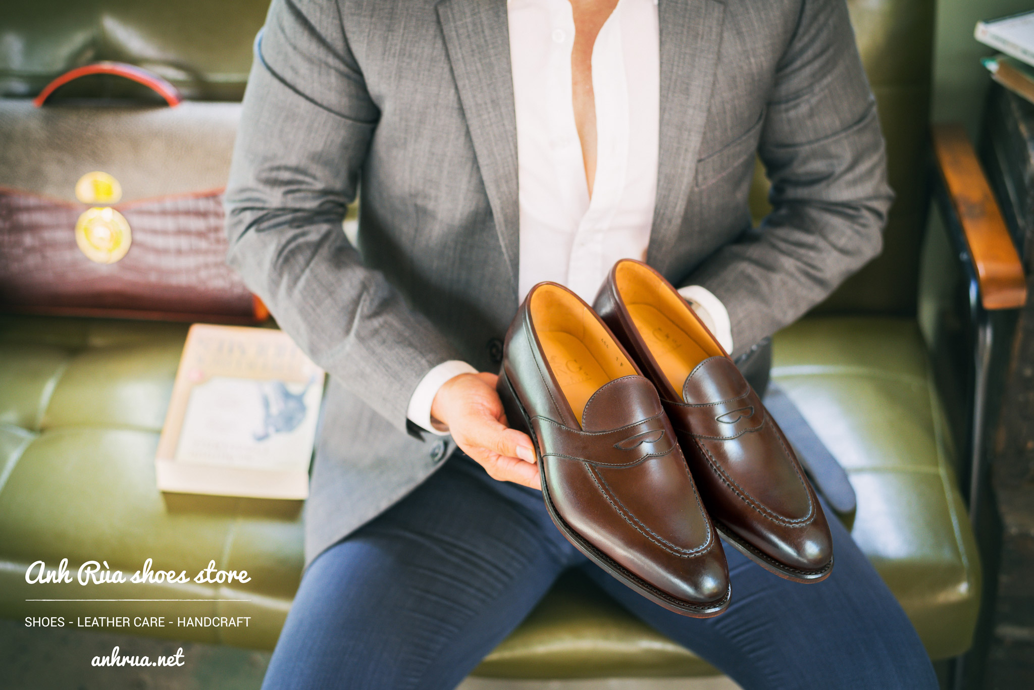 medium brown penny loafers