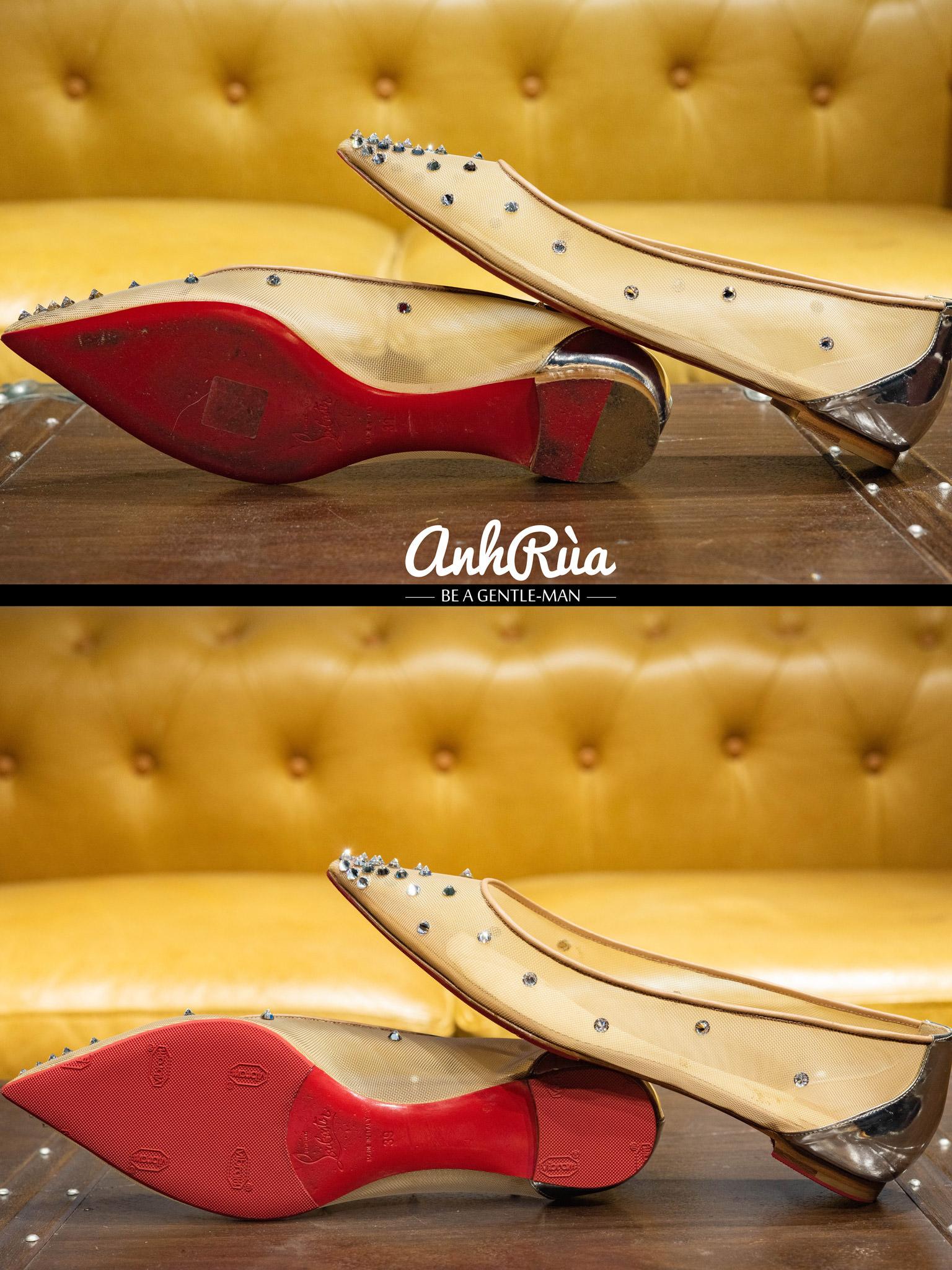 Dán đế giày Vibram đỏ