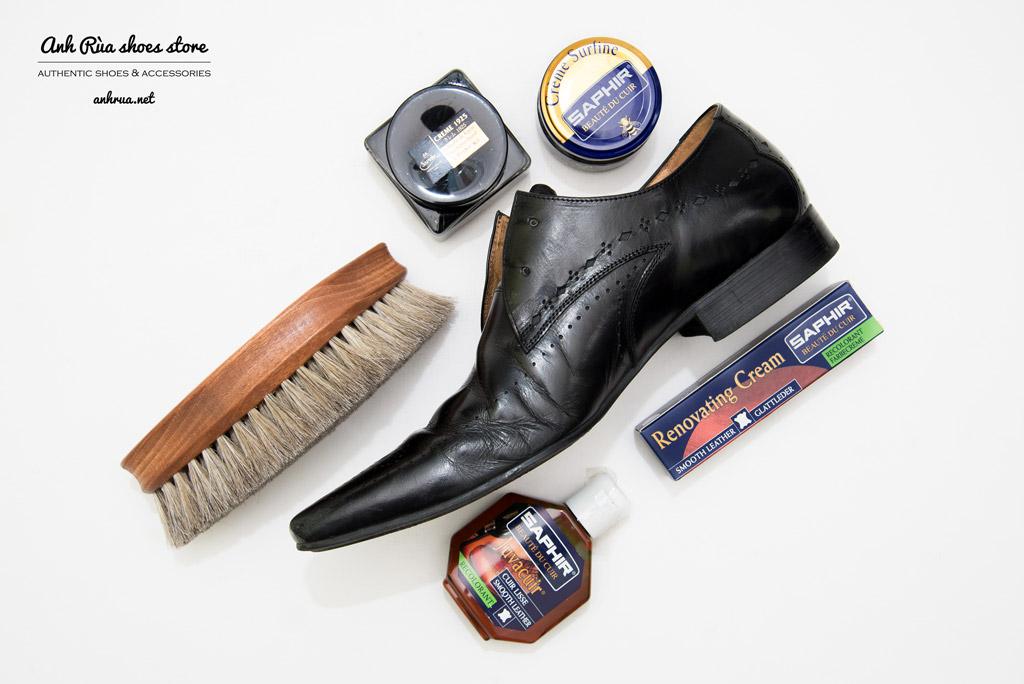 shoe care saphir xi giay giày kem chữa xước xi kem vết trầy