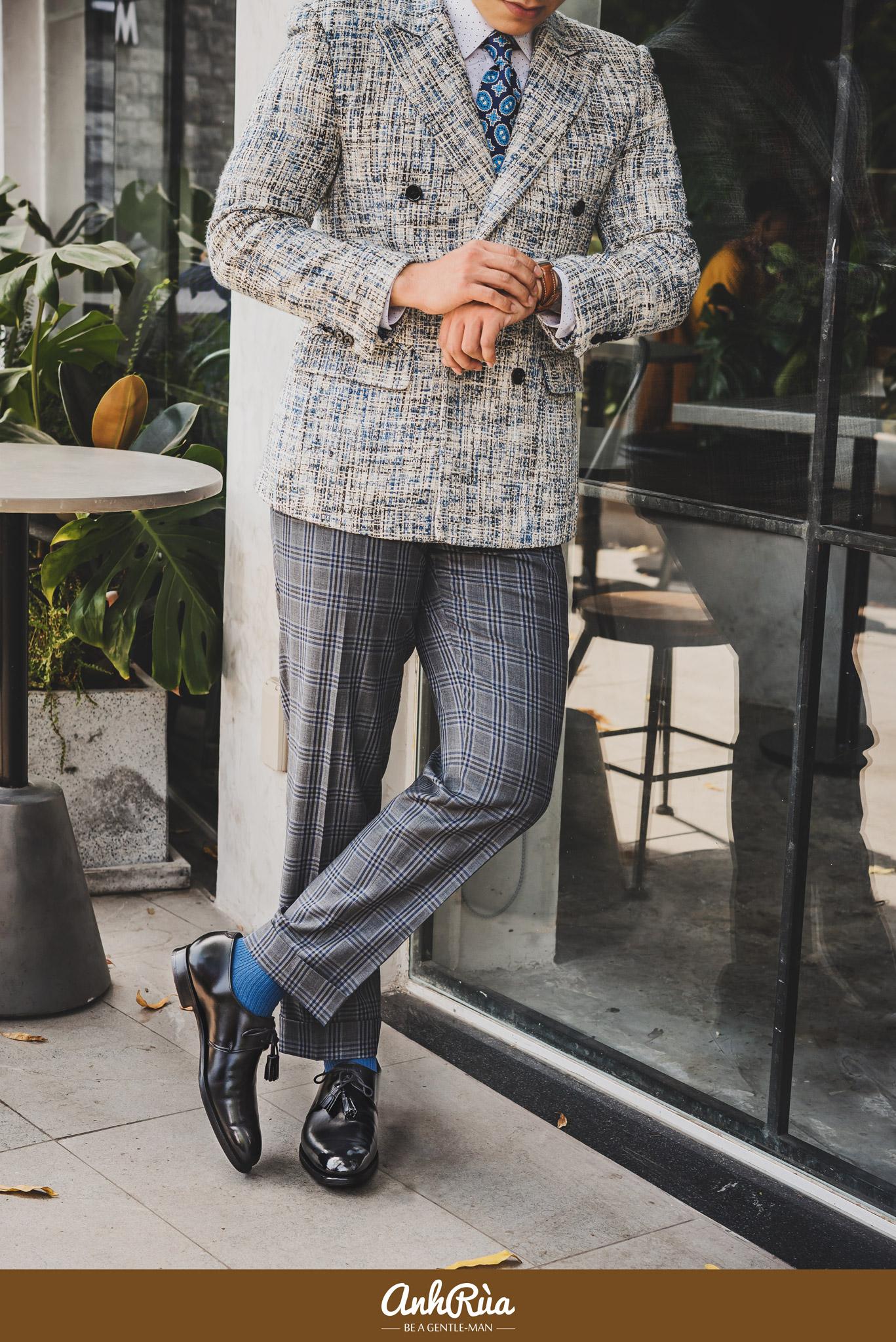 Box calf dress shoes Crockett & Jones