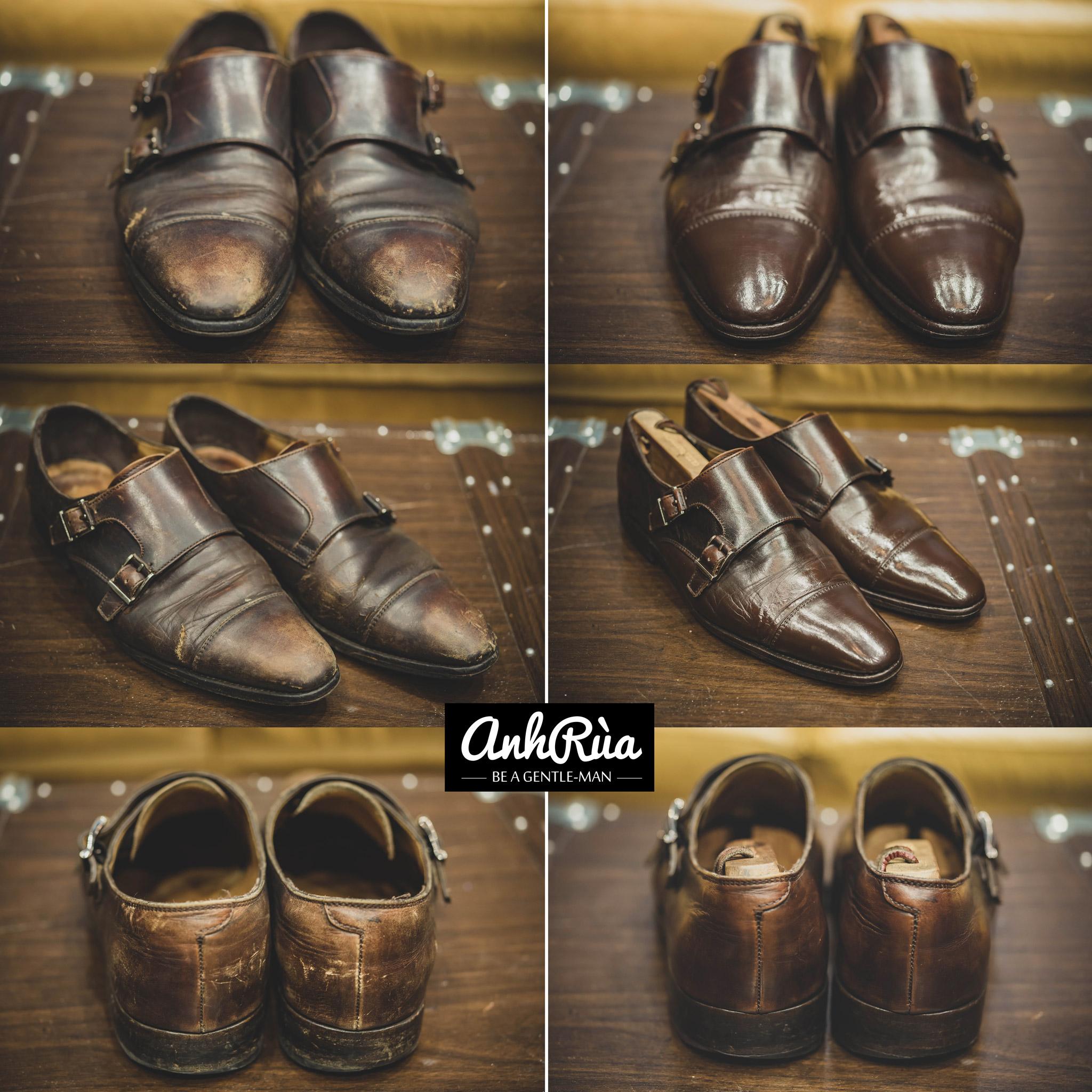 dịch vụ chăm sóc giày da