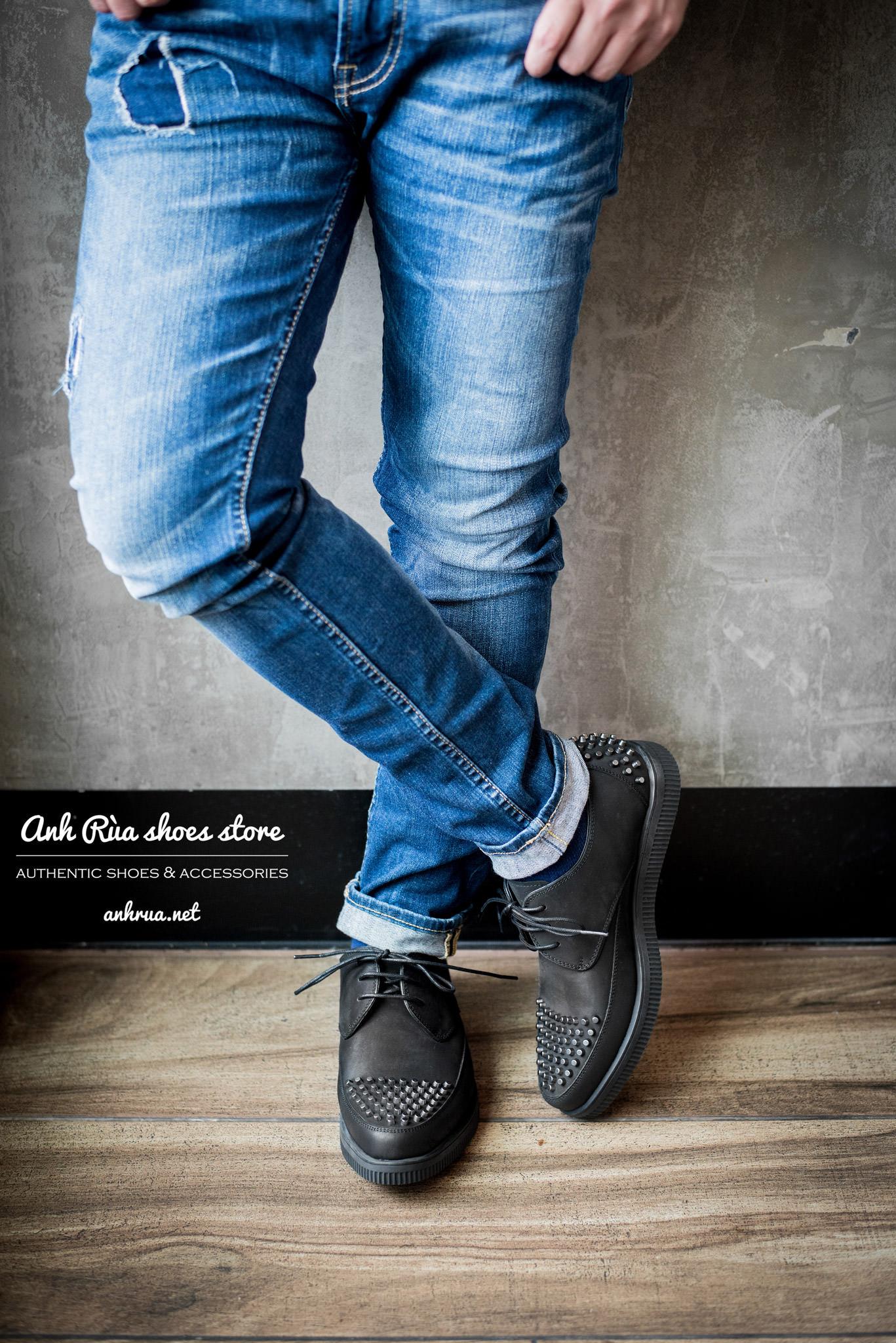 Da giày nubuck black