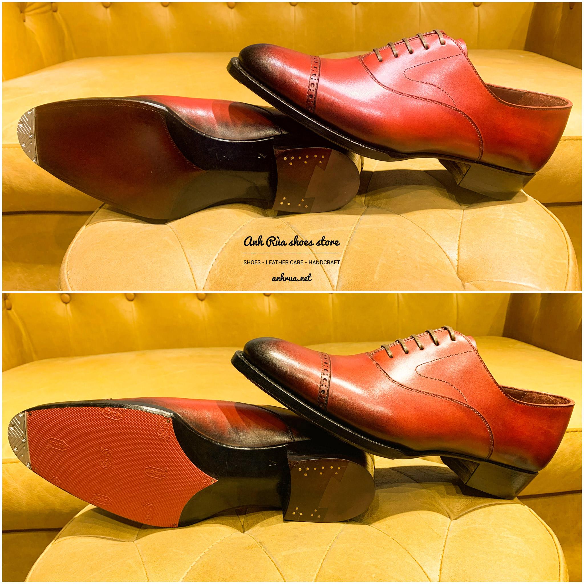 Dán đế giày có toe tap red