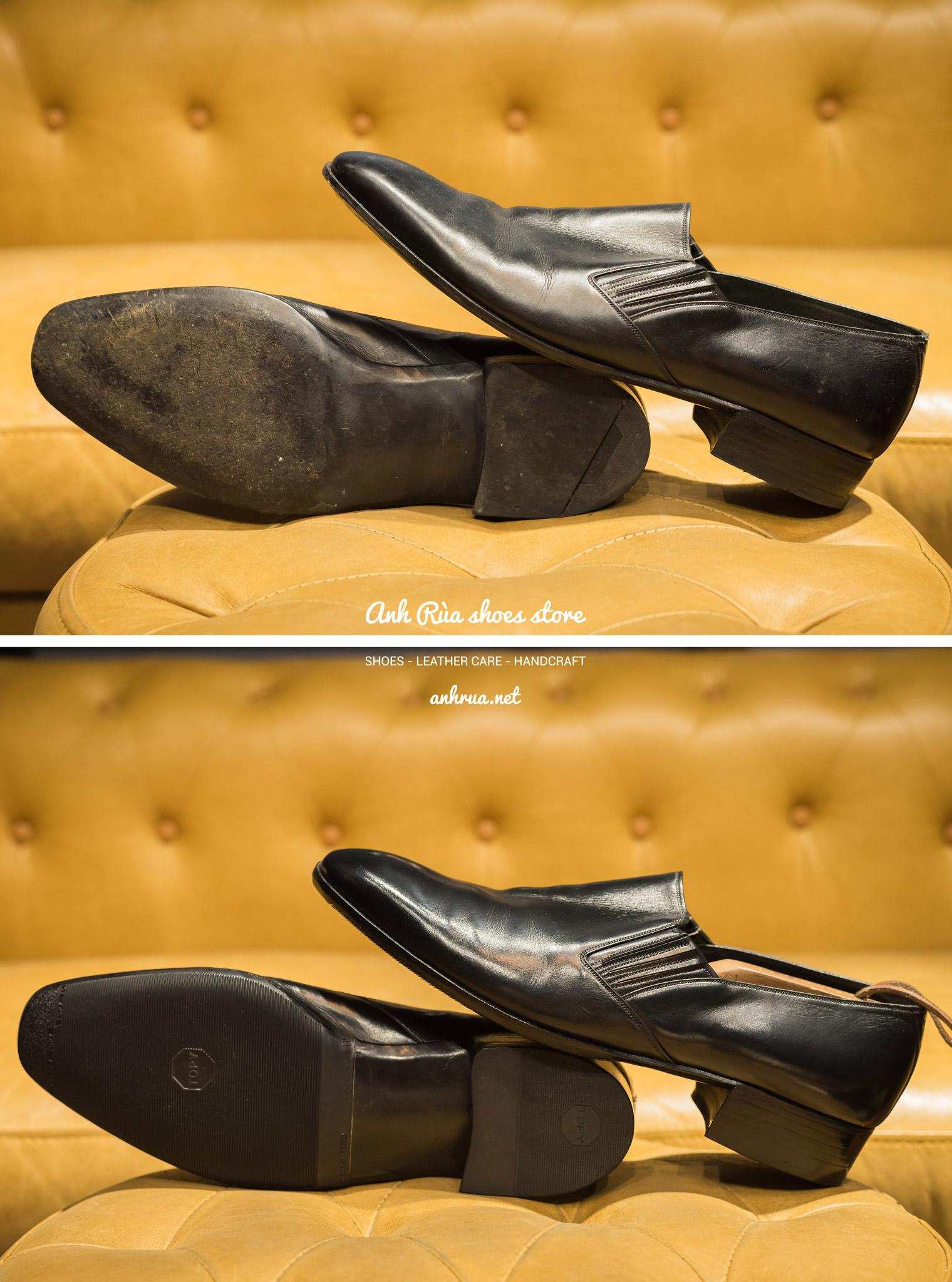 Dán đế giày Topy đen