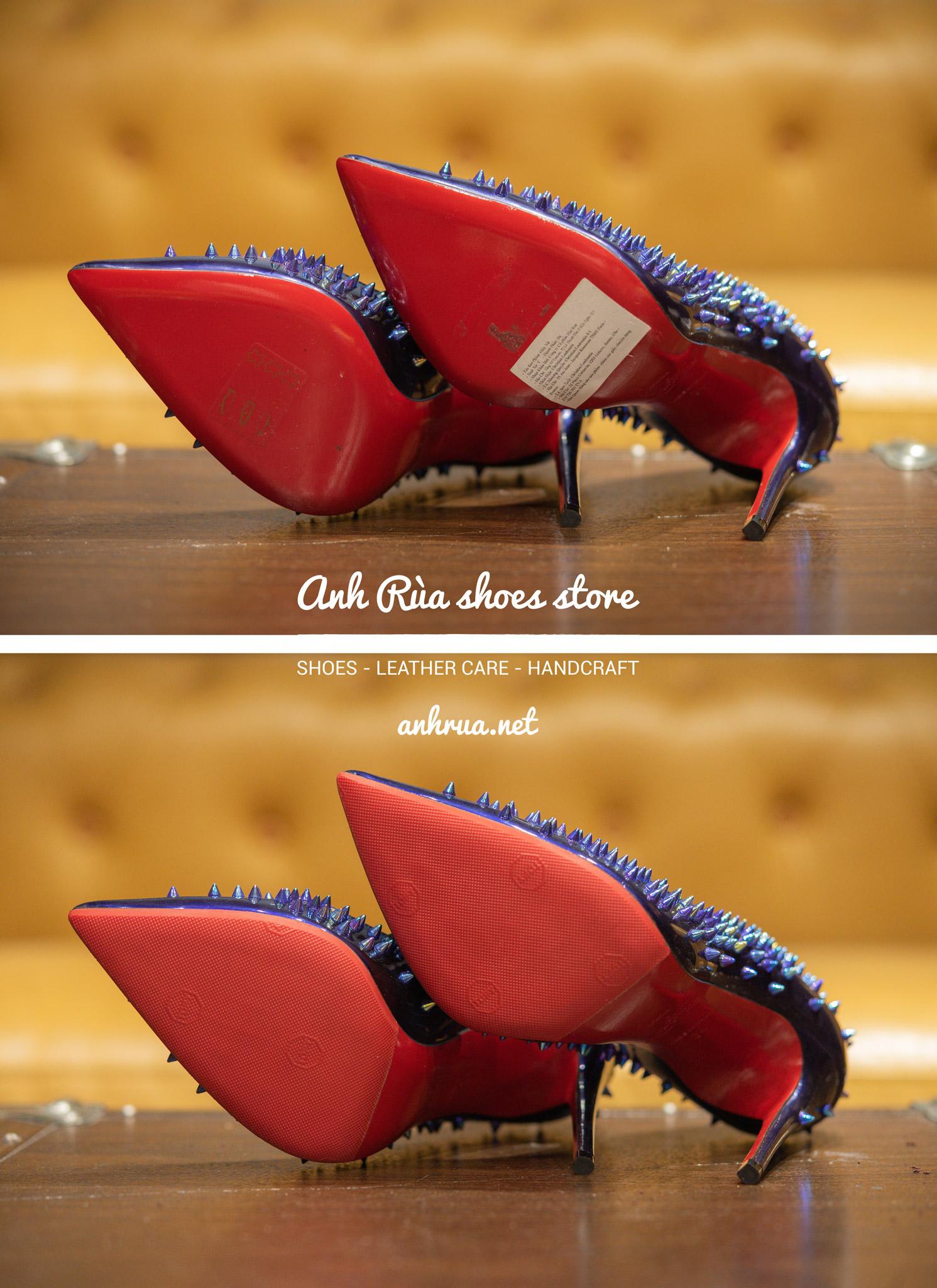 Dán đế giày Topy đỏ
