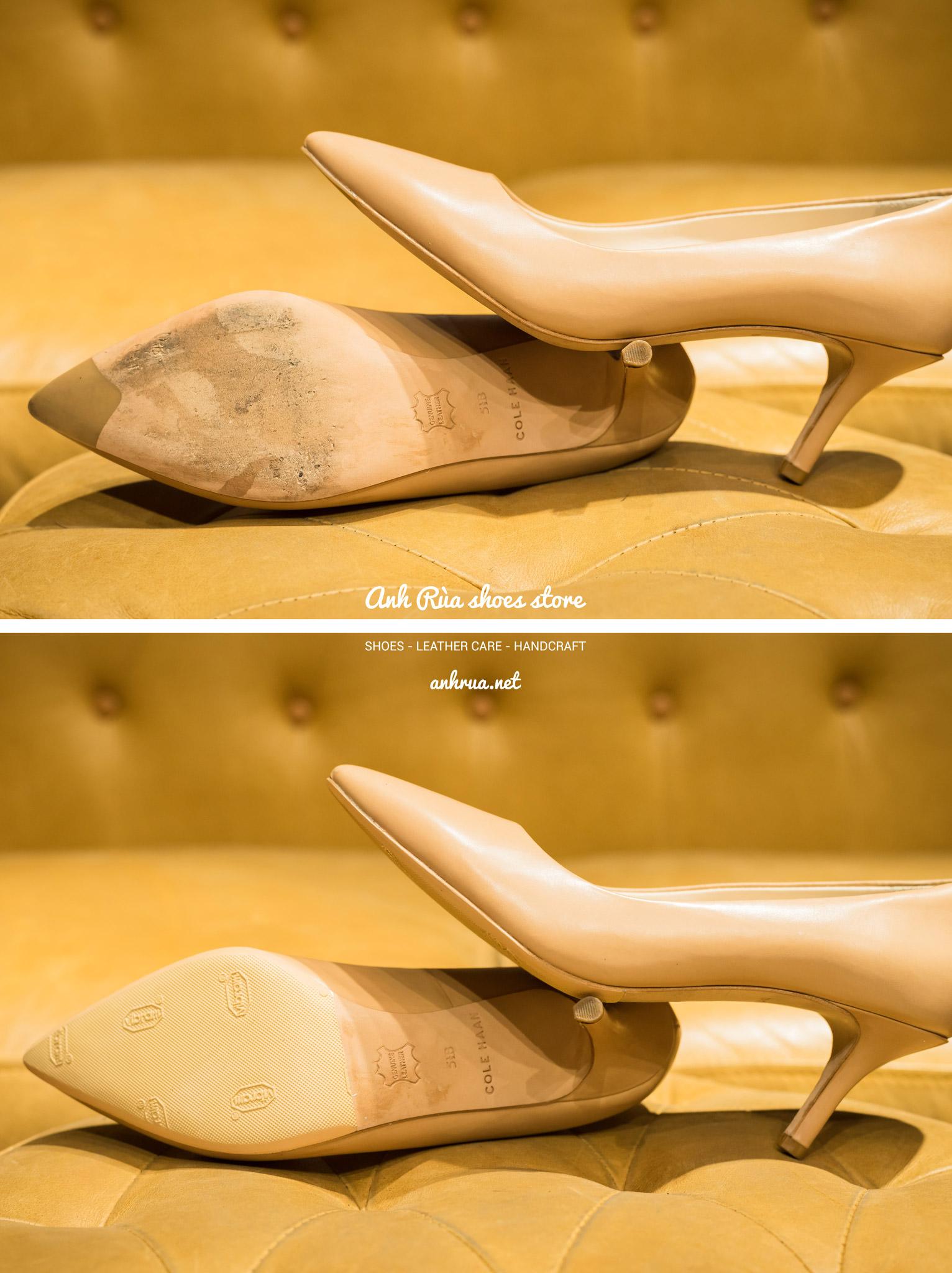 Dán đế giày Vibram trước kem