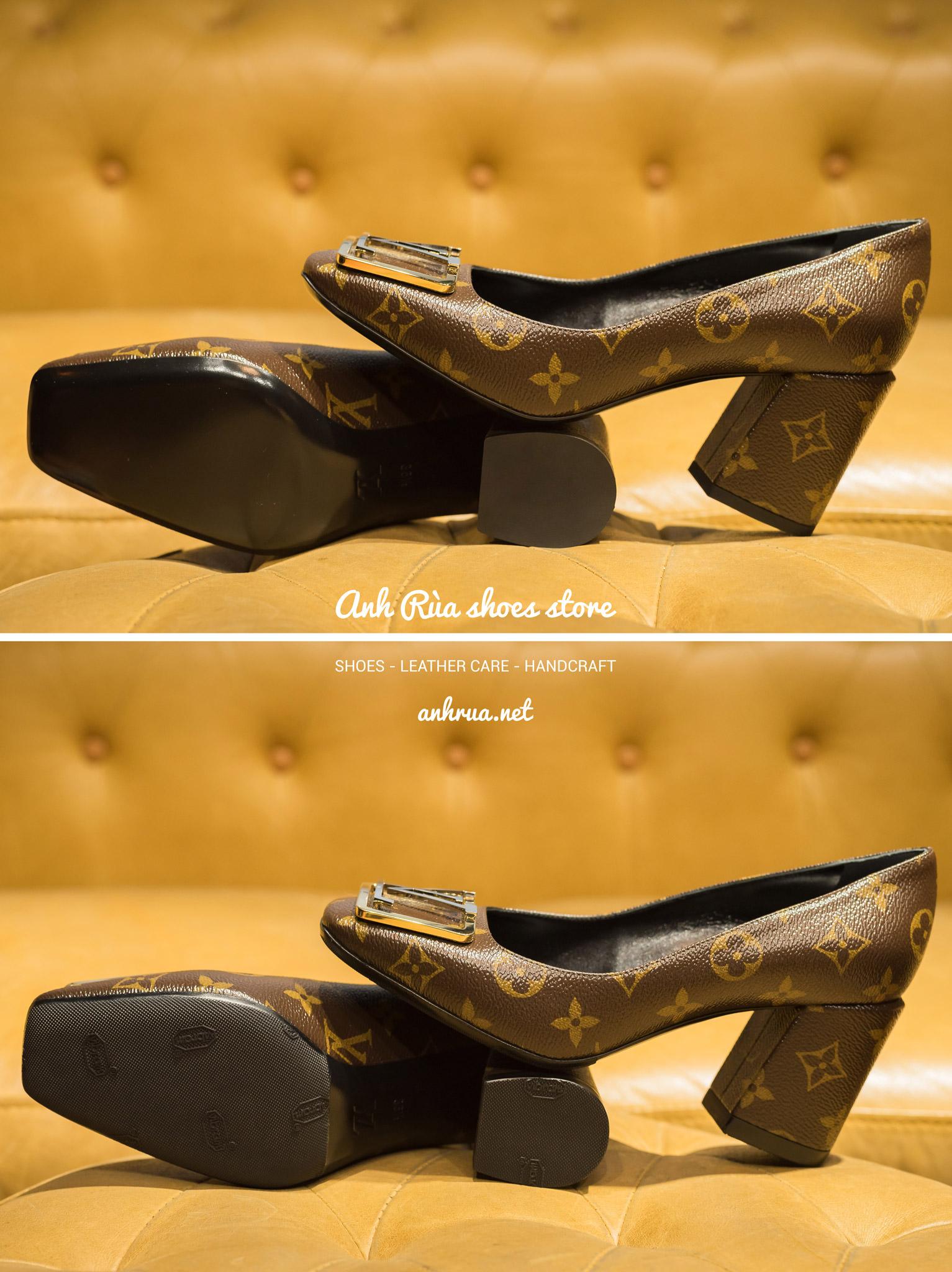 Dán đế giày Vibram trước sau đen