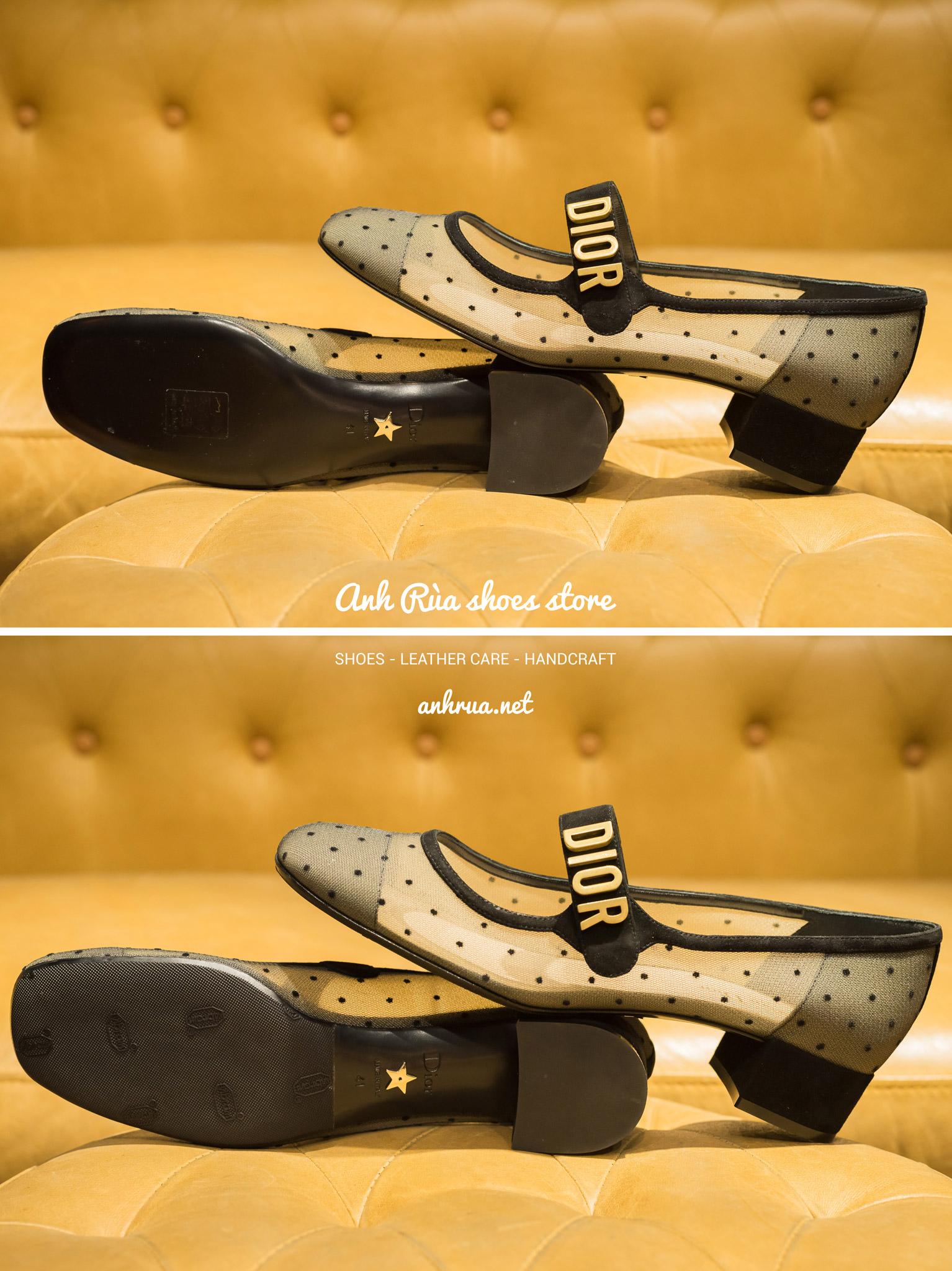 Dán đế giày Vibram trước đen