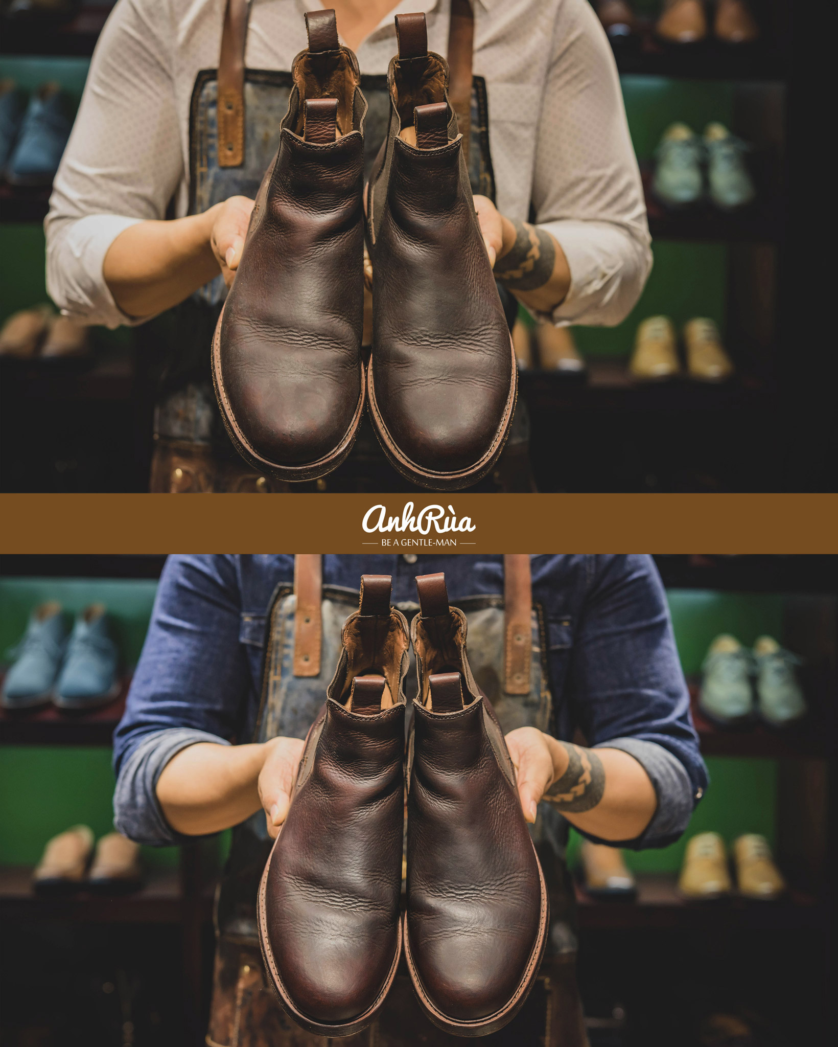 sử dụng Oiled Leather Saphir BDC màu neutral