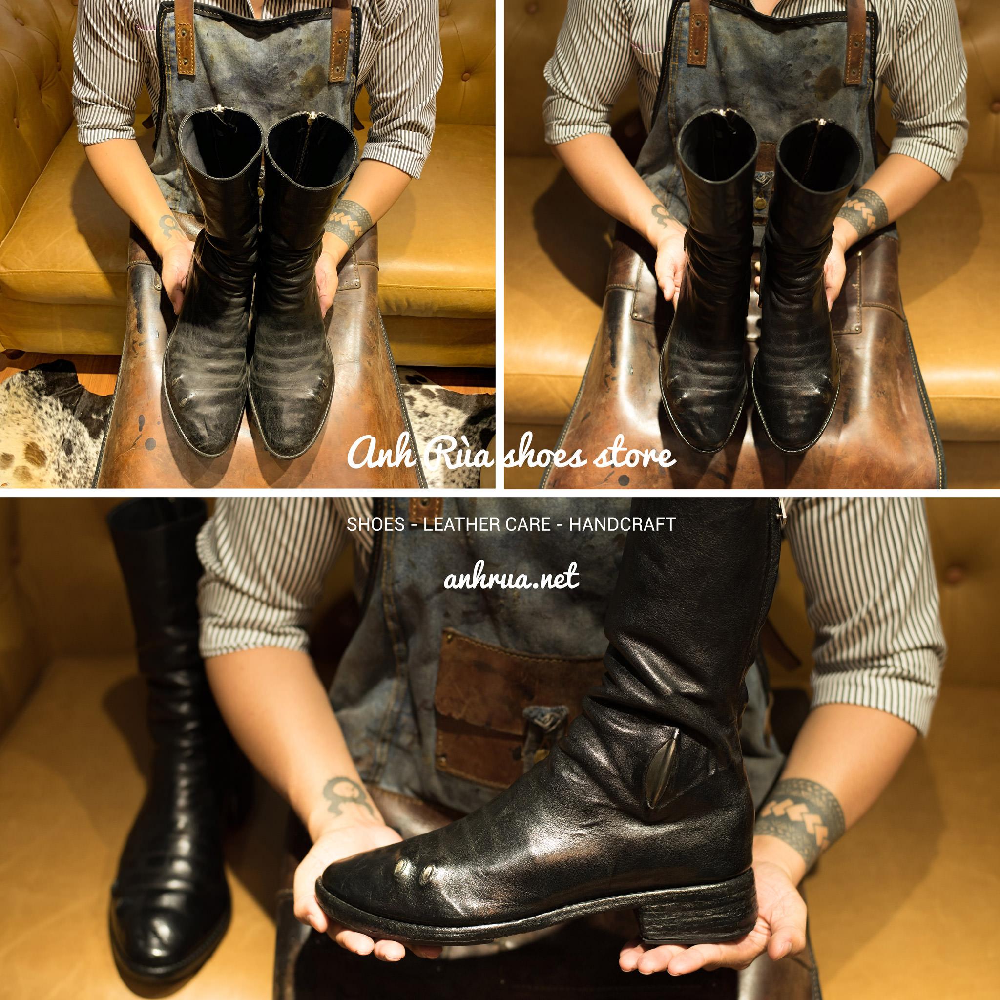 Đánh giày da trơn