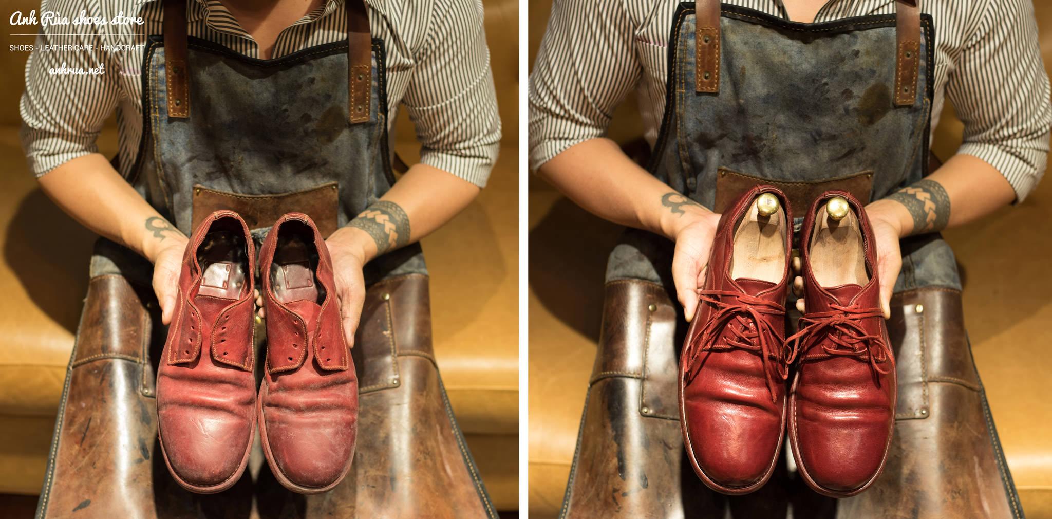Đánh giày da trơn sau 3 bước