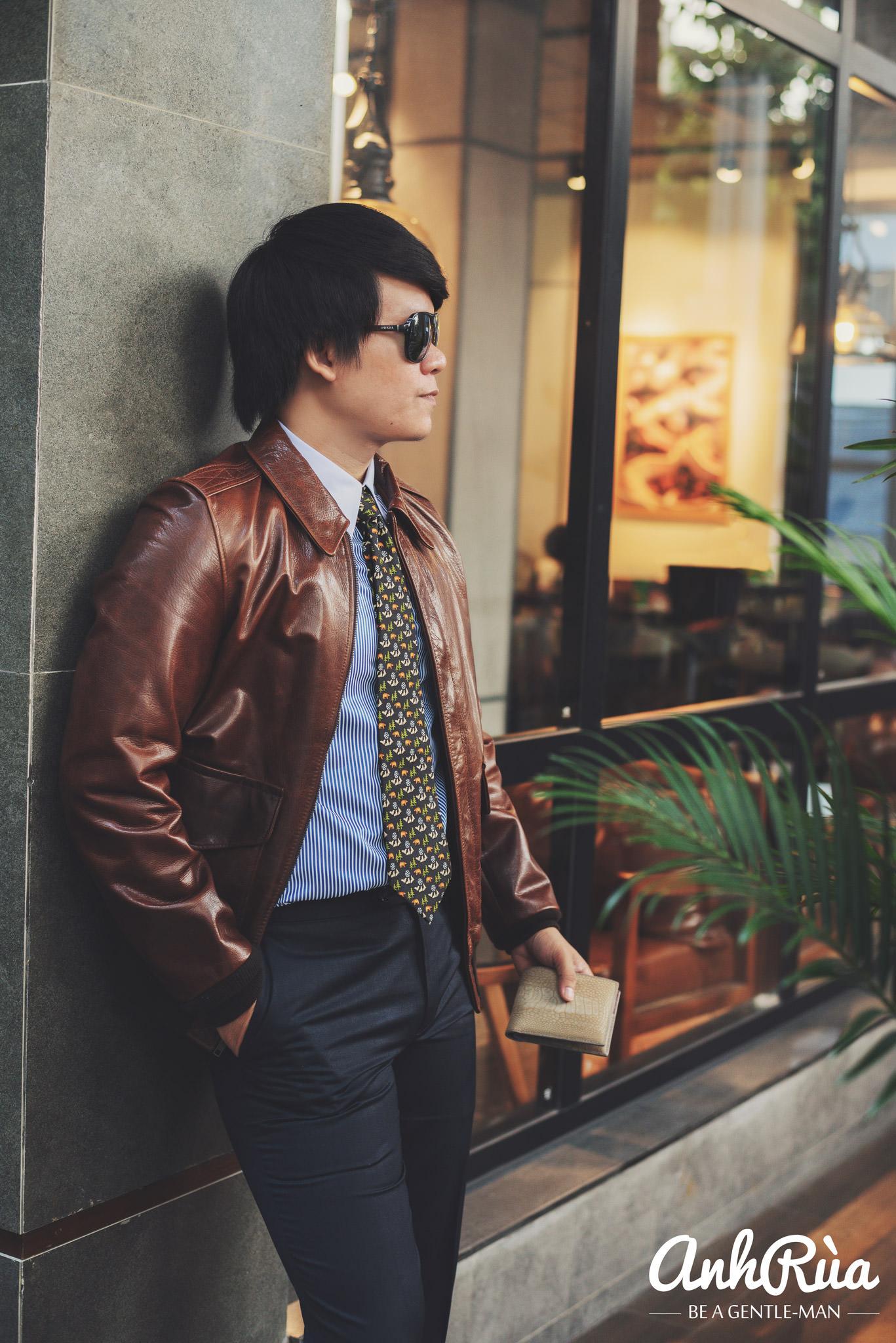 Định hướng Anh Rùa A2 leather jacket