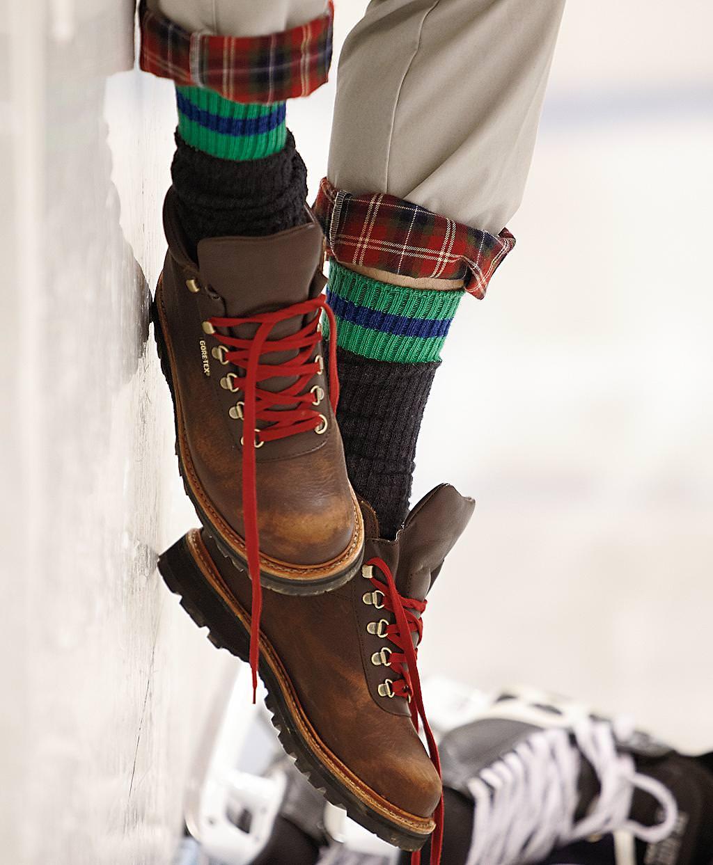 Giày boots nam hiking truyền thống