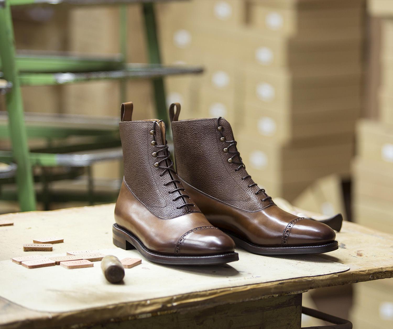 Giày boots nam light brown balmoral