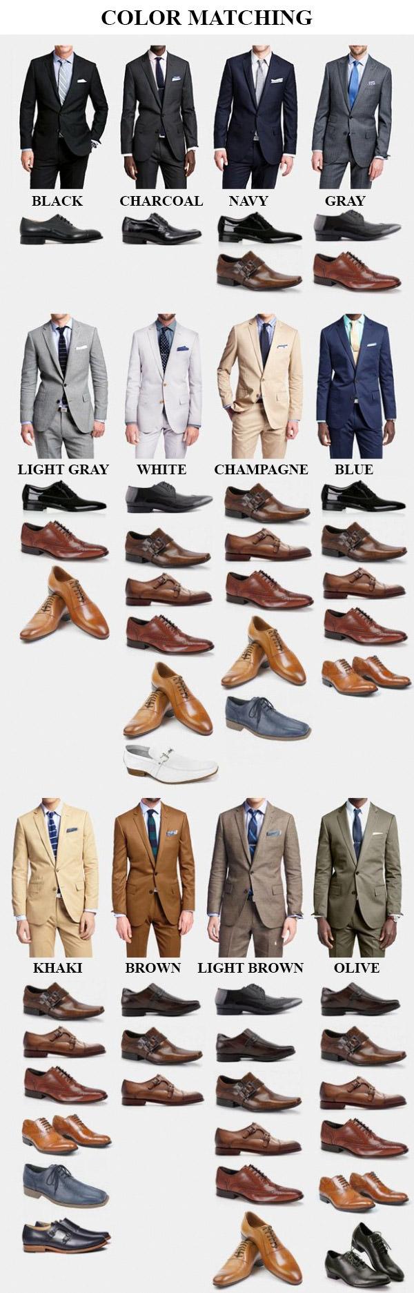 giày tây nâu phối trang phục