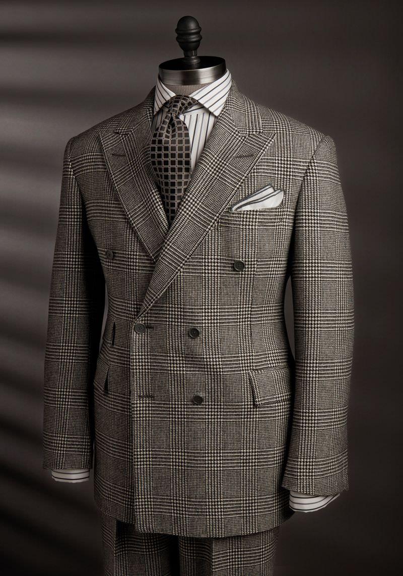 Glen plaid fabric