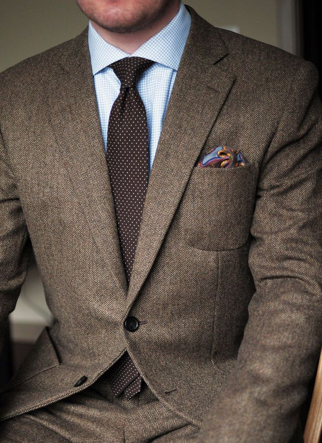 herringbone sand suit