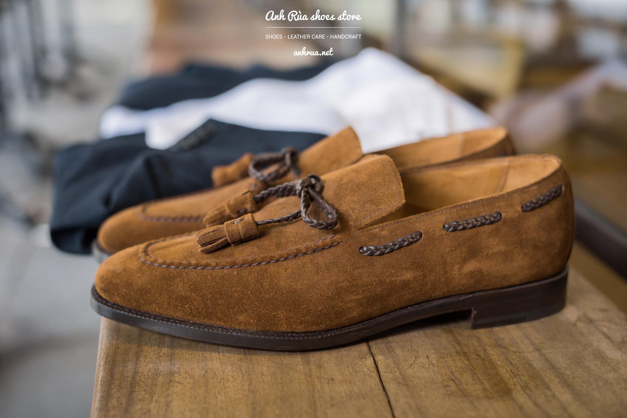 Giày Lười Nam Suede Medium Brown Tassel Loafers J.FitzPatrick