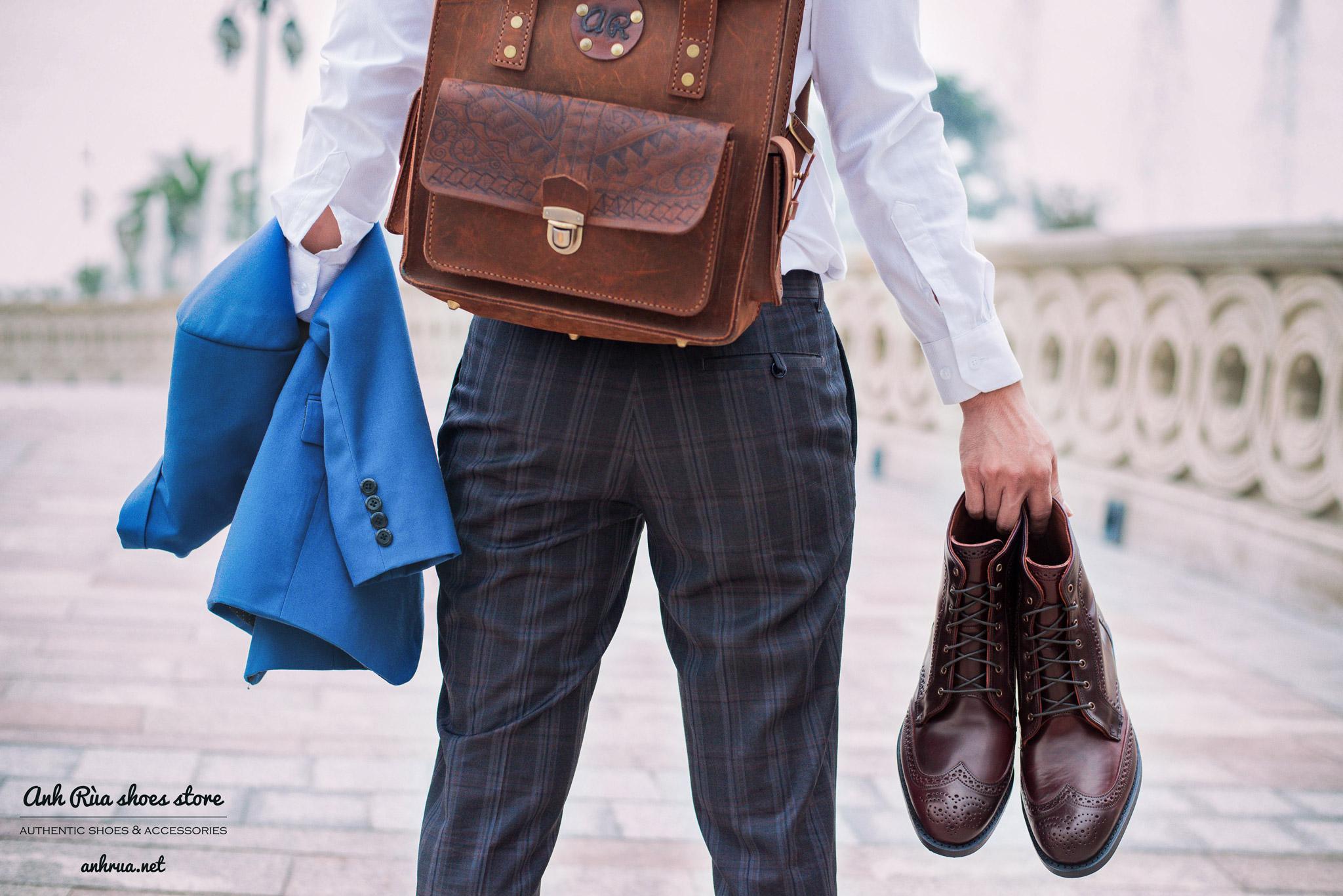 Cordovan Full Brogues Dress Boots Allen Edmonds
