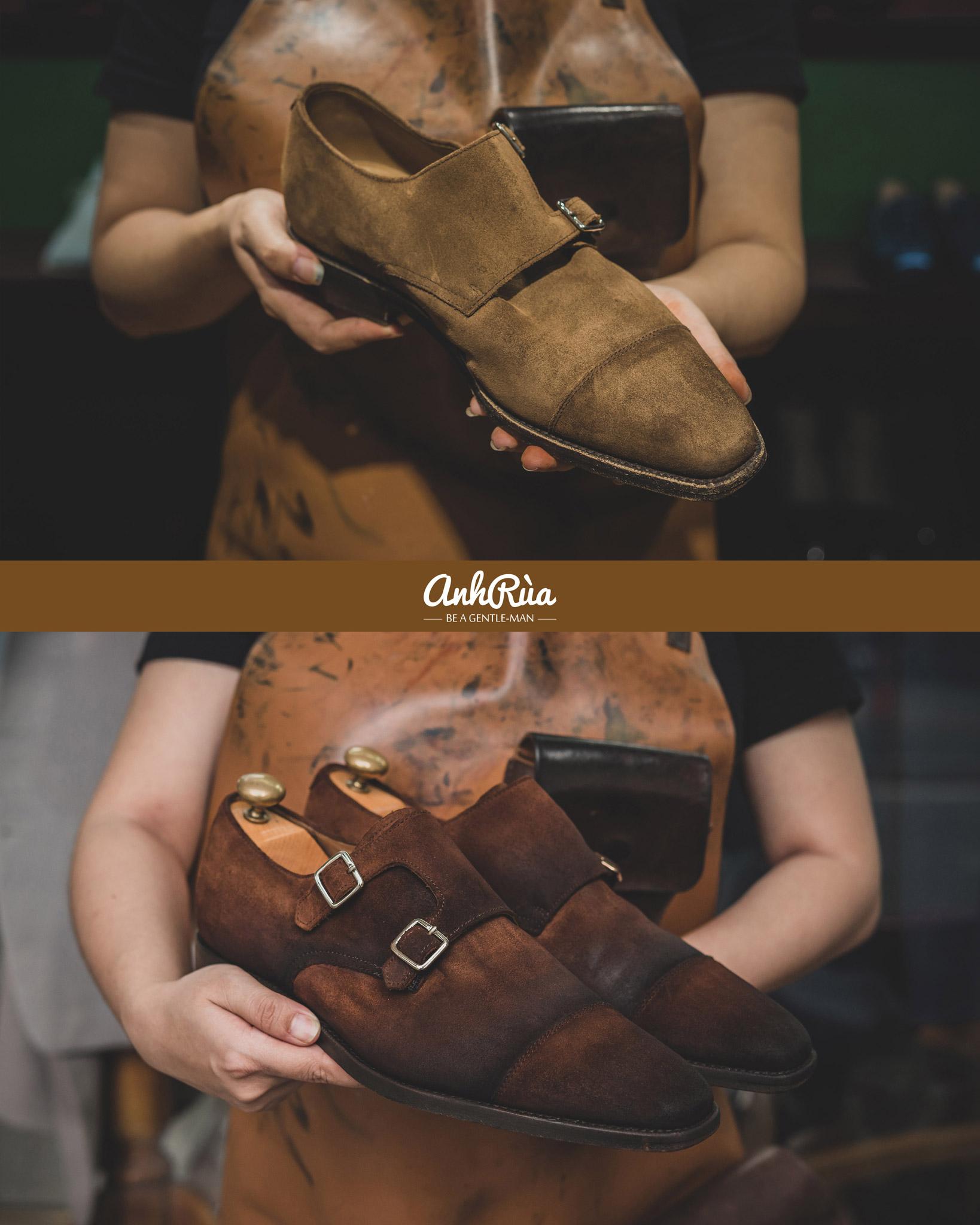 Shading patina bởi Anh Rùa store trên đôi double monkstrap Regal