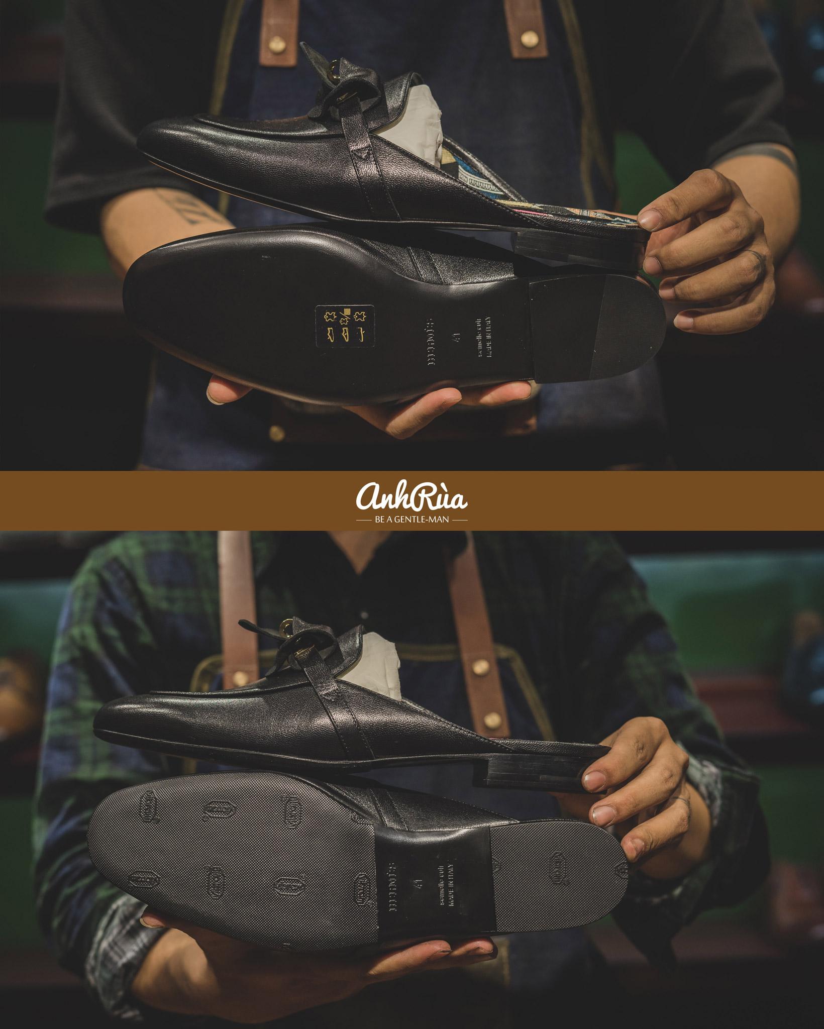 Dán đế giày Vibram đen