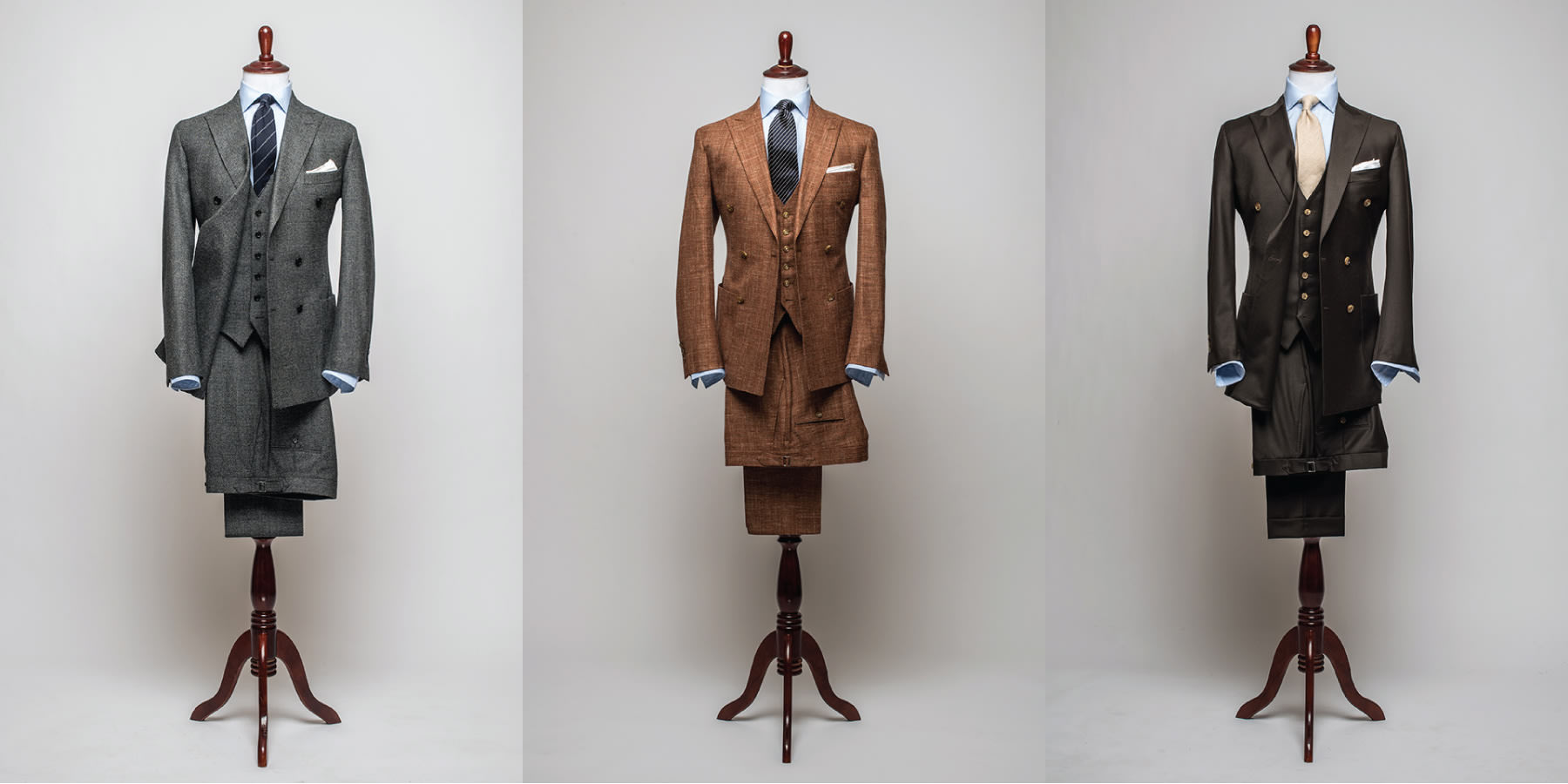 Waistcoat với double breasted suit