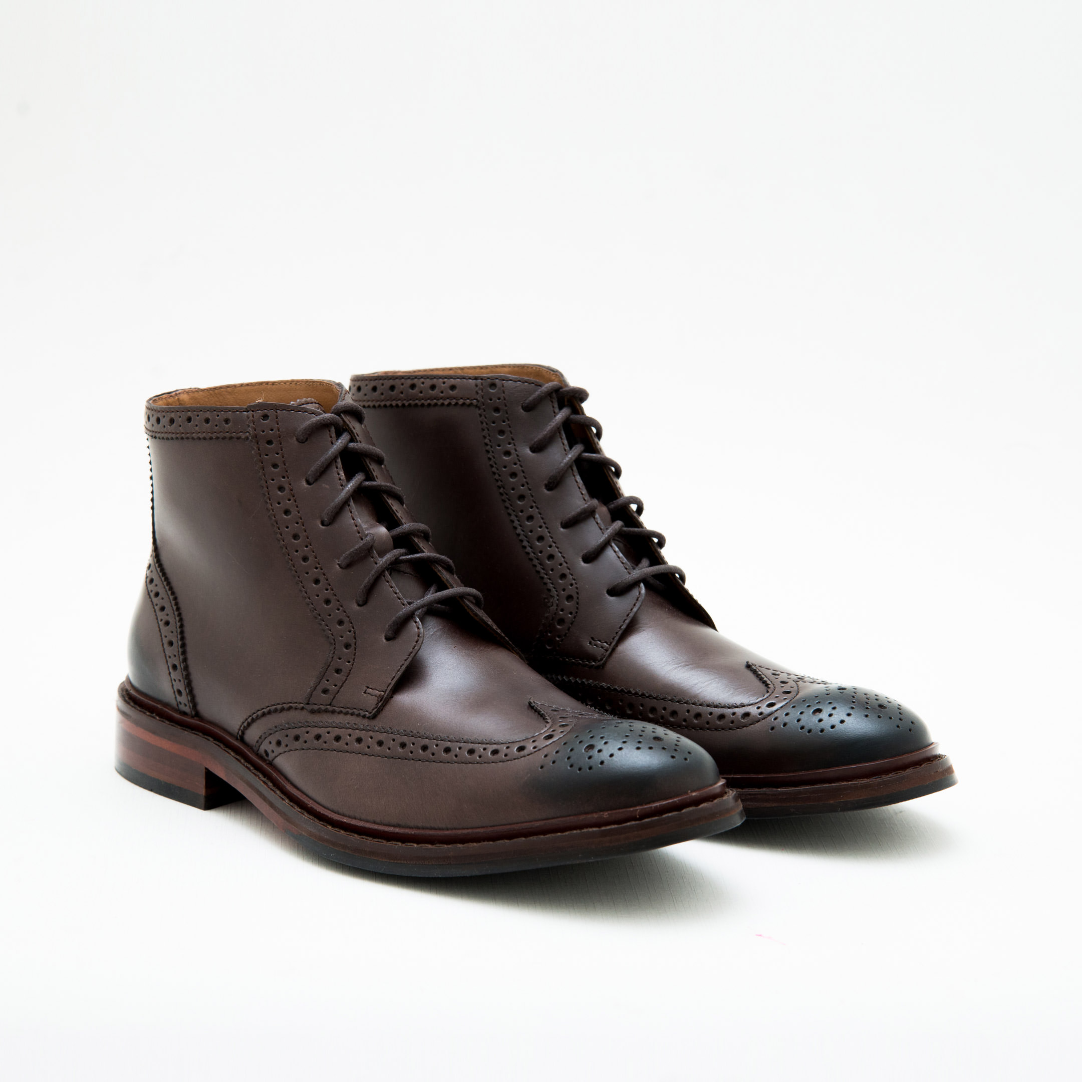 Giày Bốt Nam Medium Brown Full Brogues Dress Boots Cole Haan
