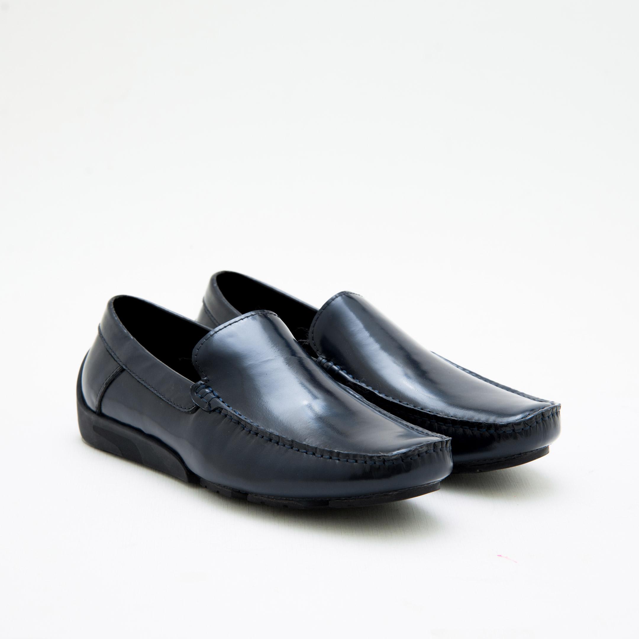 Giày Lười Nam Navy Moccasins KCNY