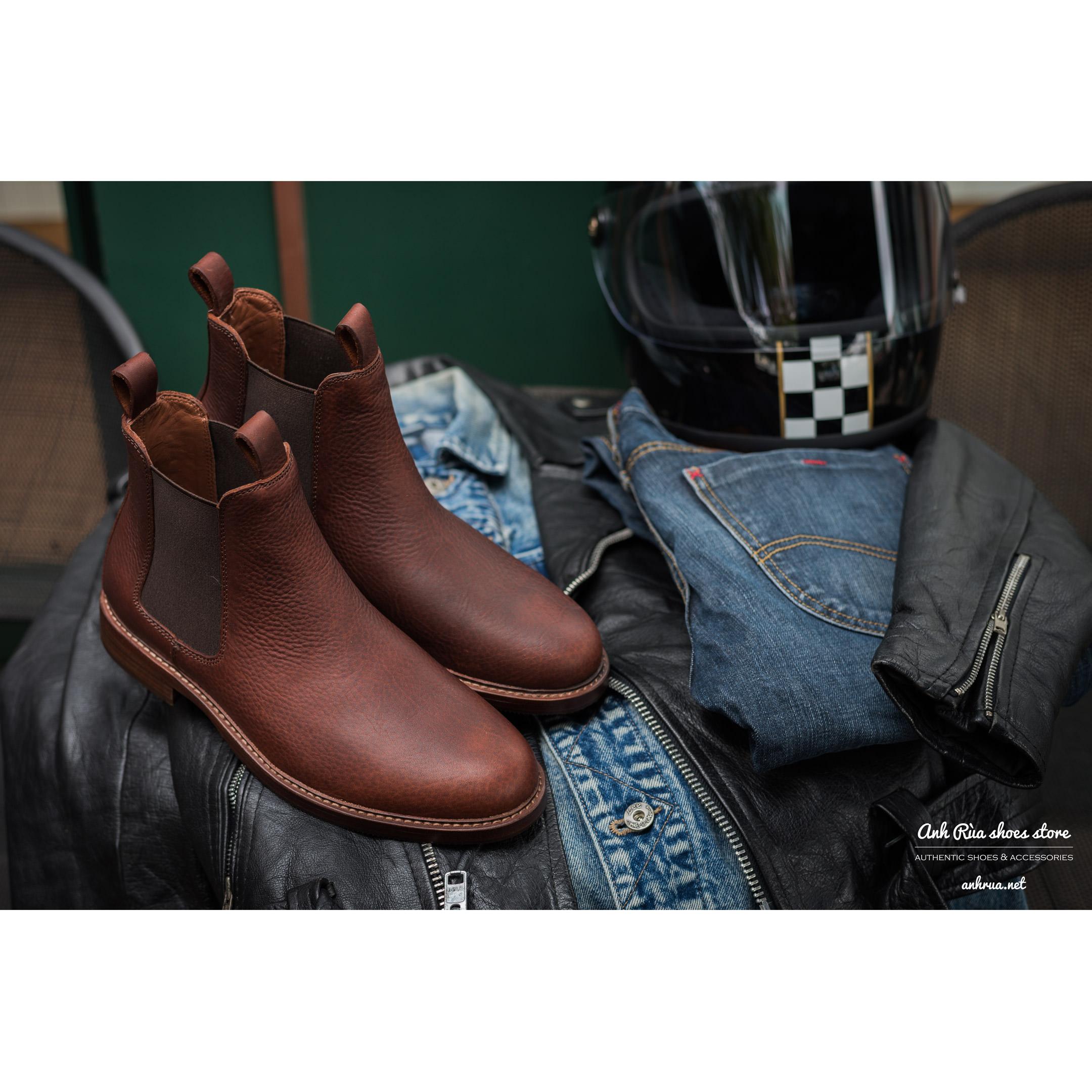 Giày Bốt Nam Pullup Cognac Chelsea Boots Polo Ralph Lauren