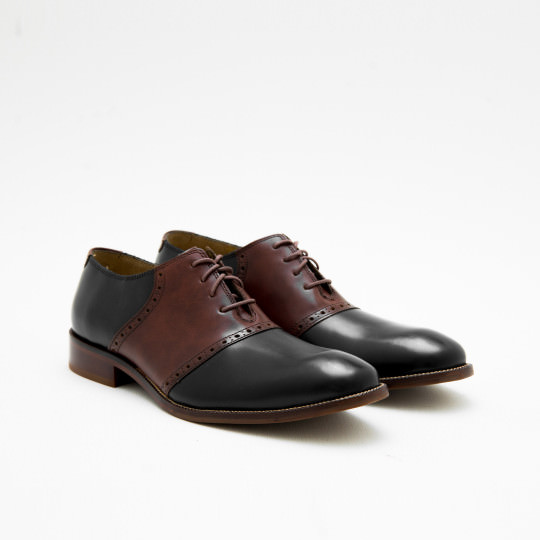 Black - Medium Brown Saddles Cole Haan