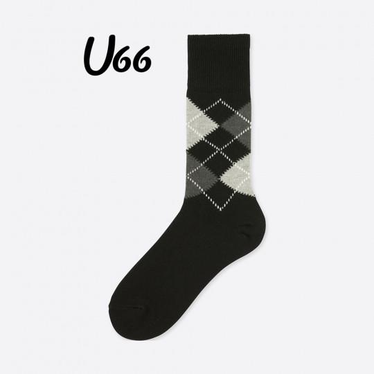 Black Argyle Socks Uniqlo