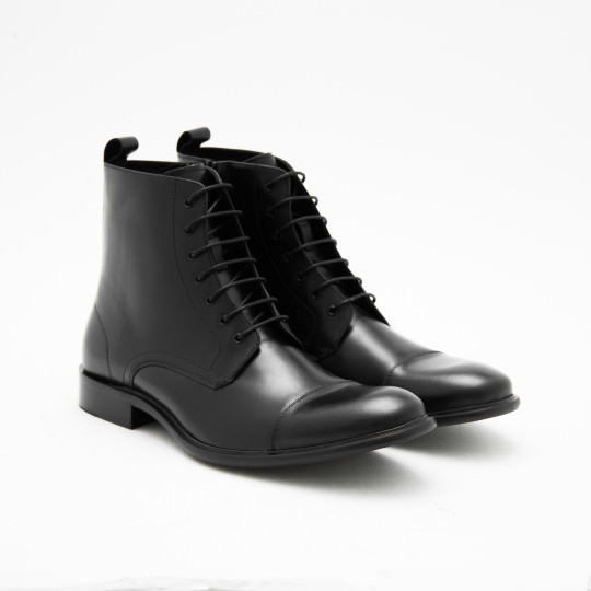 Black Captoe Dress Boots KCNY