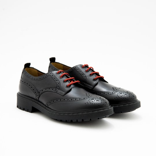 Black Commando Brogues KCR