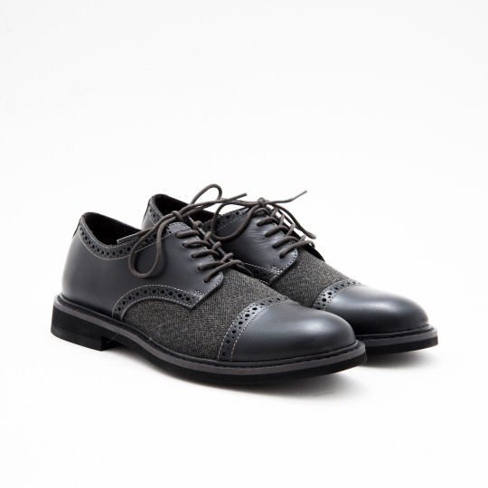 Black Derby Captoe Brogues BASS