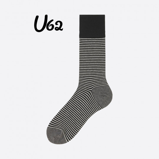 Black Line Socks Uniqlo
