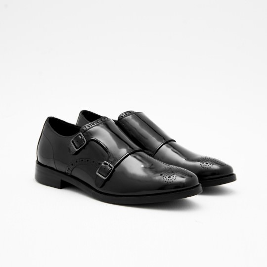 Black Medallion Double Monkstrap Cole Haan