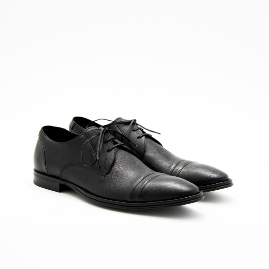 Black Pebbled Captoe Derby KCC