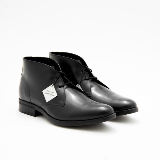 Black Waterproof Chukkas Cole Haan