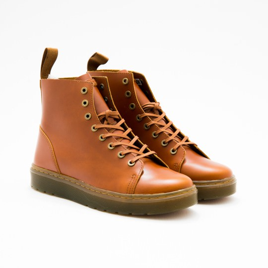 Tan 8-eyes Boots Dr. Martens