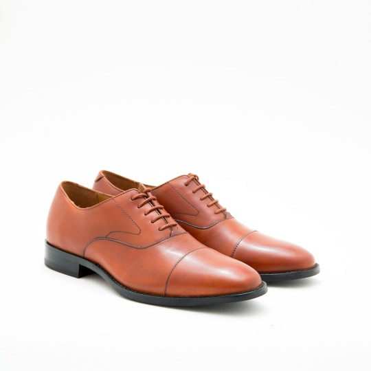 Cognac Grand.OS Captoe Oxfords Cole Haan