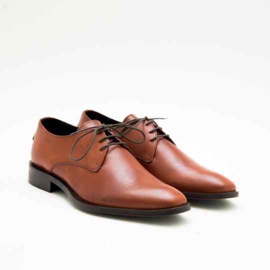 Giày Tây Nam Cognac Plaintoe Derby KCNY