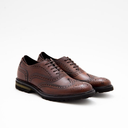Mahogany Oxfords Full Brogues KCNY