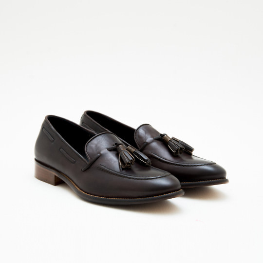 Dark Brown Tassels Loafers KCNY