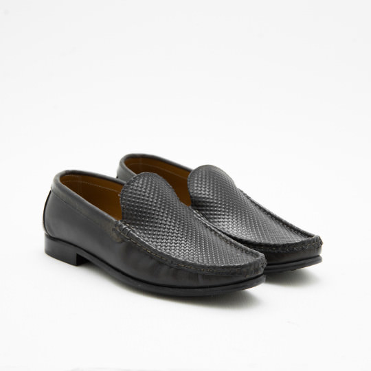 Dark Grey Moctoe Loafers KCNY